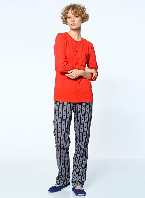 U.S.Polo Assn. Pijama Takım Kırmızı